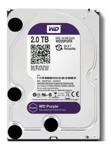 HD WD 02TB 5400 RPM PURPLE WD20PURZ