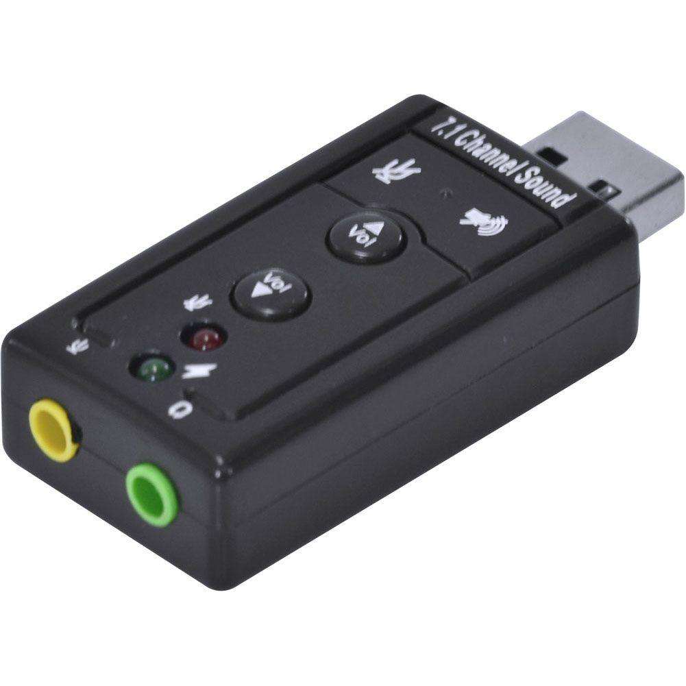 ADAPTADOR PLACA DE SOM USB 7.1