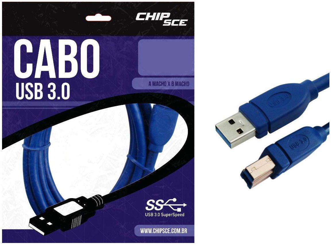 CABO USB 3.0 MACHO A + MACHO B 2M