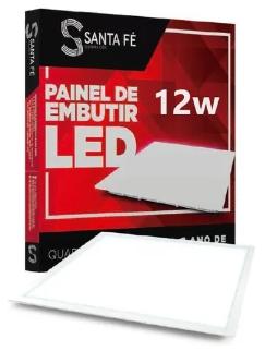 PAINEL DE EMBUTIR QUADRADO LED 12W 4000K