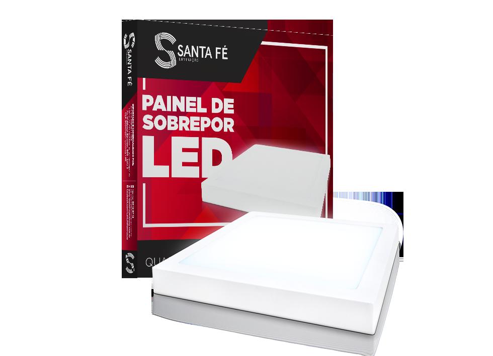 PAINEL DE SOBREPOR QUADRADO LED 24W 6000K