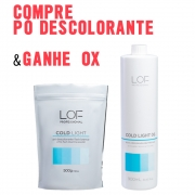 KIT LOF COLD LIGHT - COMPRE PÓ DESCOLORANTE 500G E GANHE OX DE 06 VOL