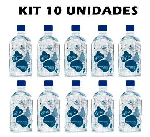 KIT 10UN ALCOOL EM GEL HIGIENIZADOR FLORACTIVE 10 x 450gr