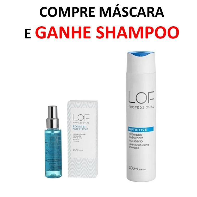 Kit LOF Compre Máscara 60 ml Ganhe Shampoo 300 ml - Linha Nutritive