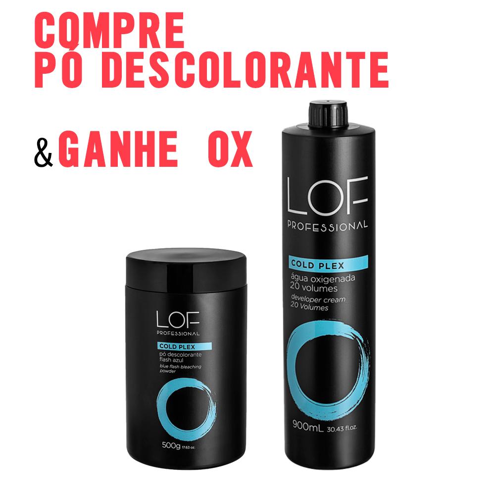 KIT LOF - COMPRE PÓ DESCOLORANTE COLD PLEX AZUL 500G E GANHE OXIDANTE 20VOL