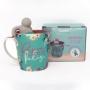 Caneca Reserve um Tempo para Fazer sua Alma Feliz - Com Infusor de Chá