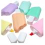 Caneta Marca Texto Mini Picolé com 6 Cores Pasteis  Jocar Office
