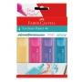 Caneta Marca Texto Textliner com 4 Cores Pasteis – Faber Castell
