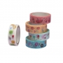 Fita Adesiva Food Trends Washi Tape com 05 unidades  Leo Arte