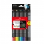 Lápis de Cor 12 Cores + 02 Lápis Grafite Super Soft – Faber Castell