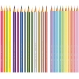 Lápis de Cor 24 Cores: 10 Pasteis, 4 Neon e 10 Metallic– Faber Castell