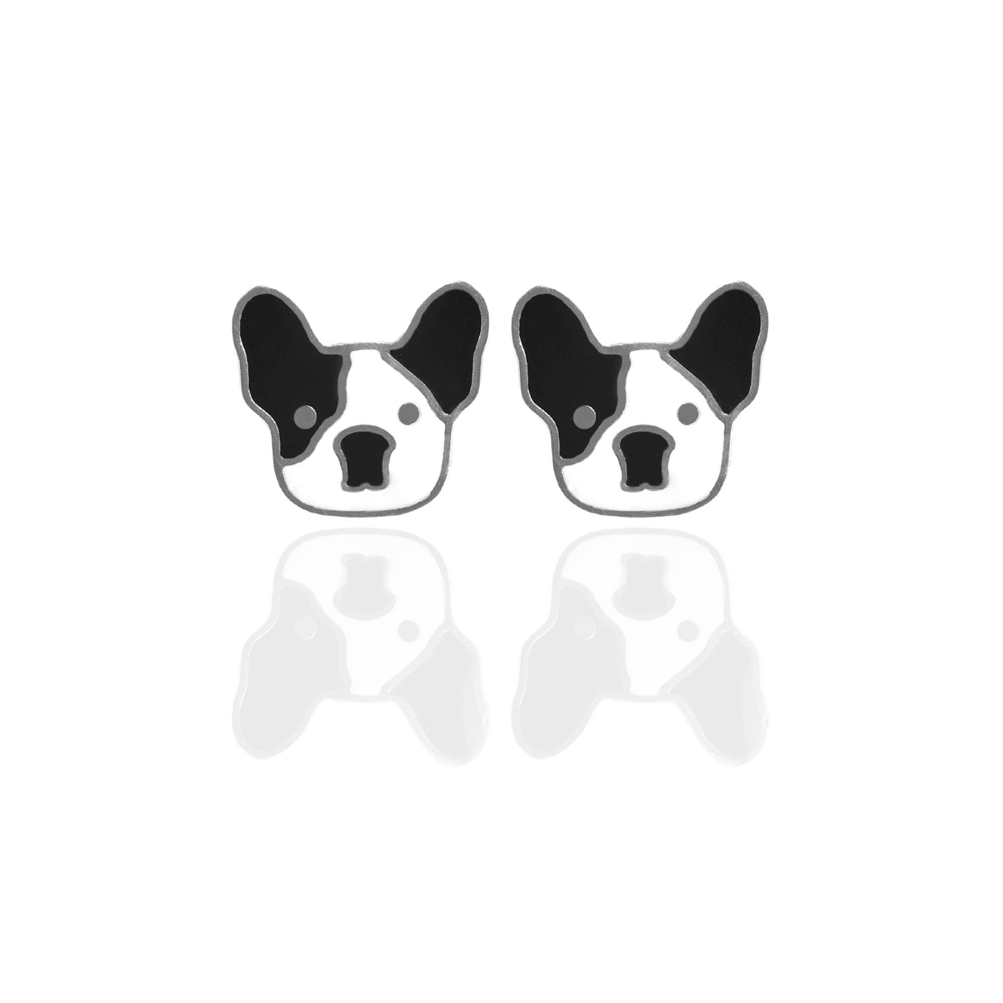 Brinco Infantil Cachorro Esmaltado Aço Inox