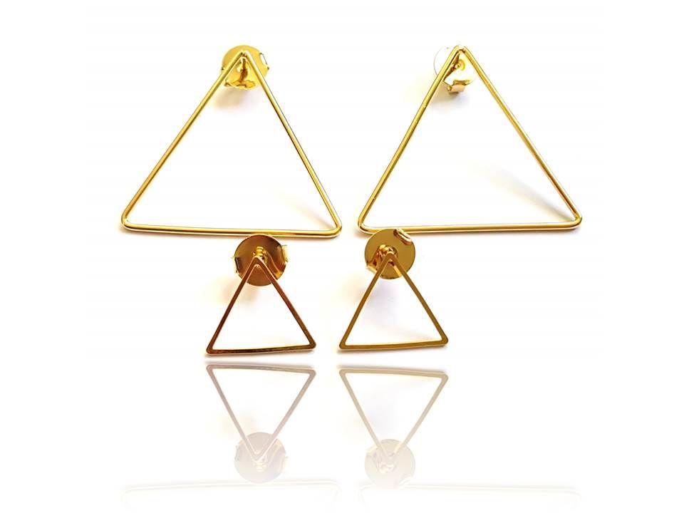 Brinco Duplo Triangulo