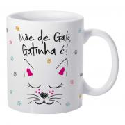 Caneca de Porcelana Mãe de Gato Gatinha é
