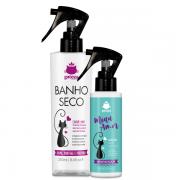 Kit Banho Seco e Higienizador para Gatos Gateza Cosmética