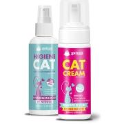 Kit Higienizador de Patas Higiene Cat e Hidratante de Pelos Cat Cream Gateza Cosmética