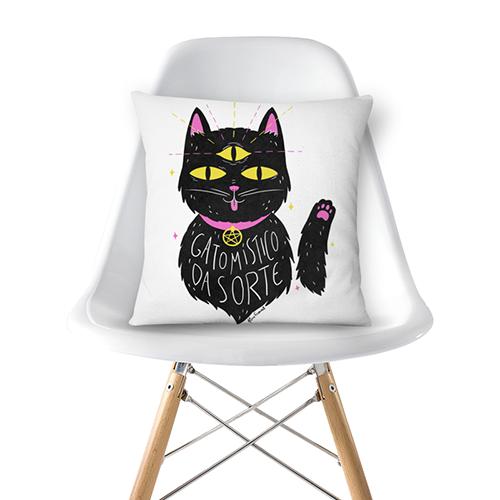 Almofada Gato Místico Da Sorte