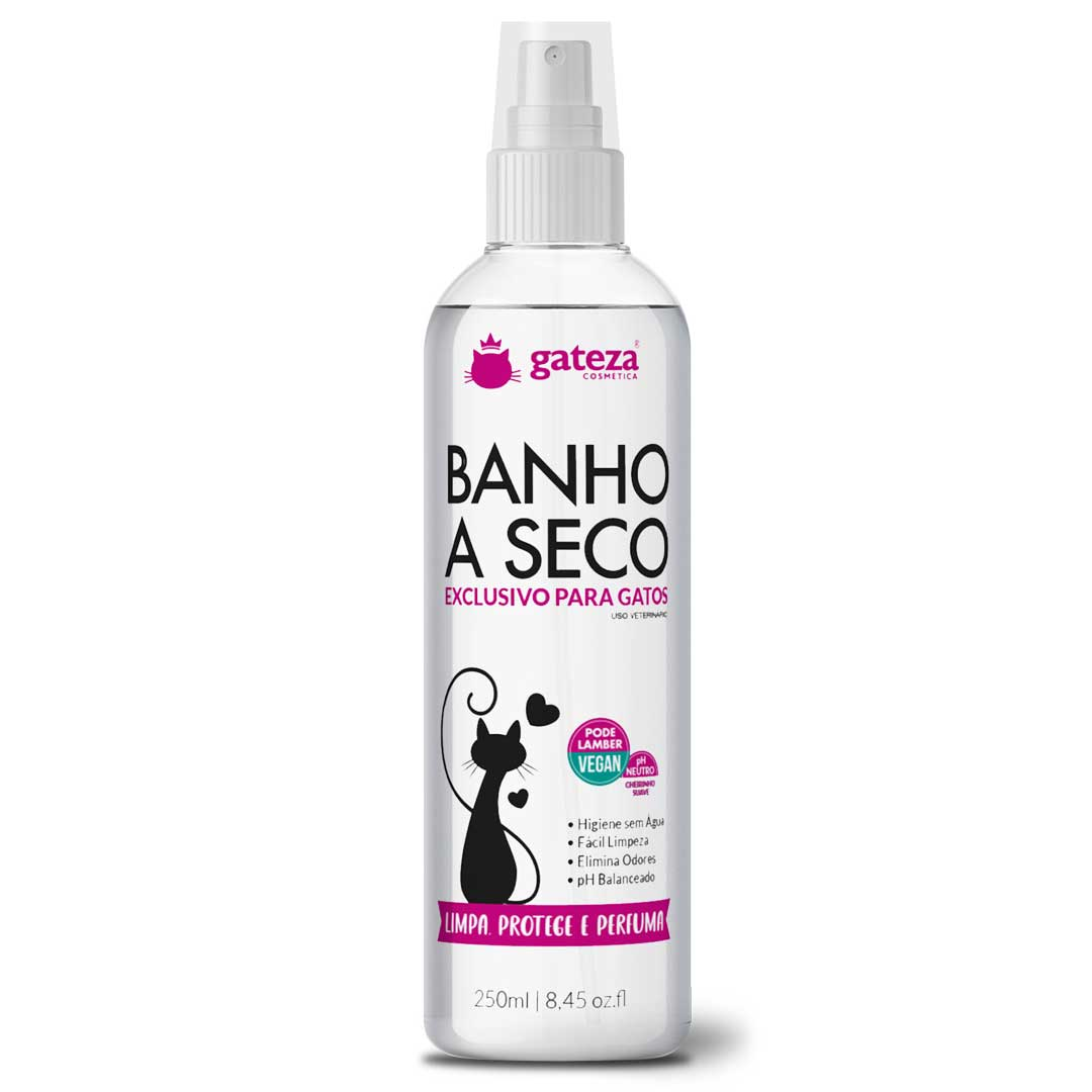 Kit Banho A Seco e Hidratante Cat Cream para Gatos Gateza Cosmética