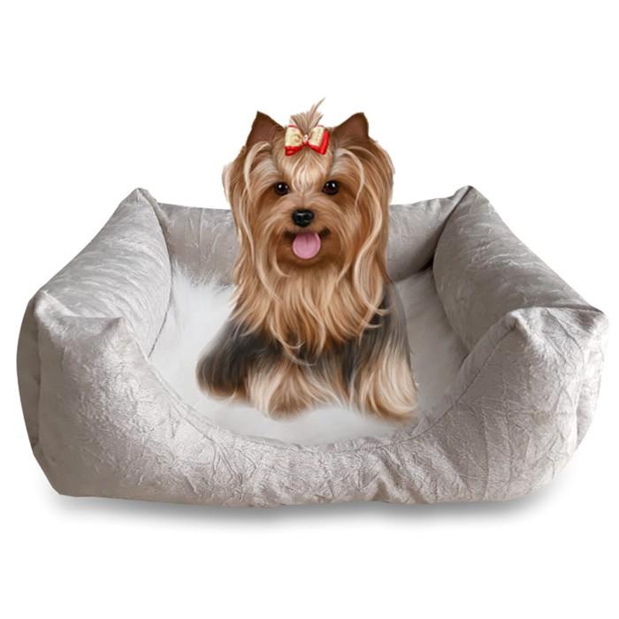 Cama Para Cães e Gatos Premium Suede e Pelúcia Cameb 50cm