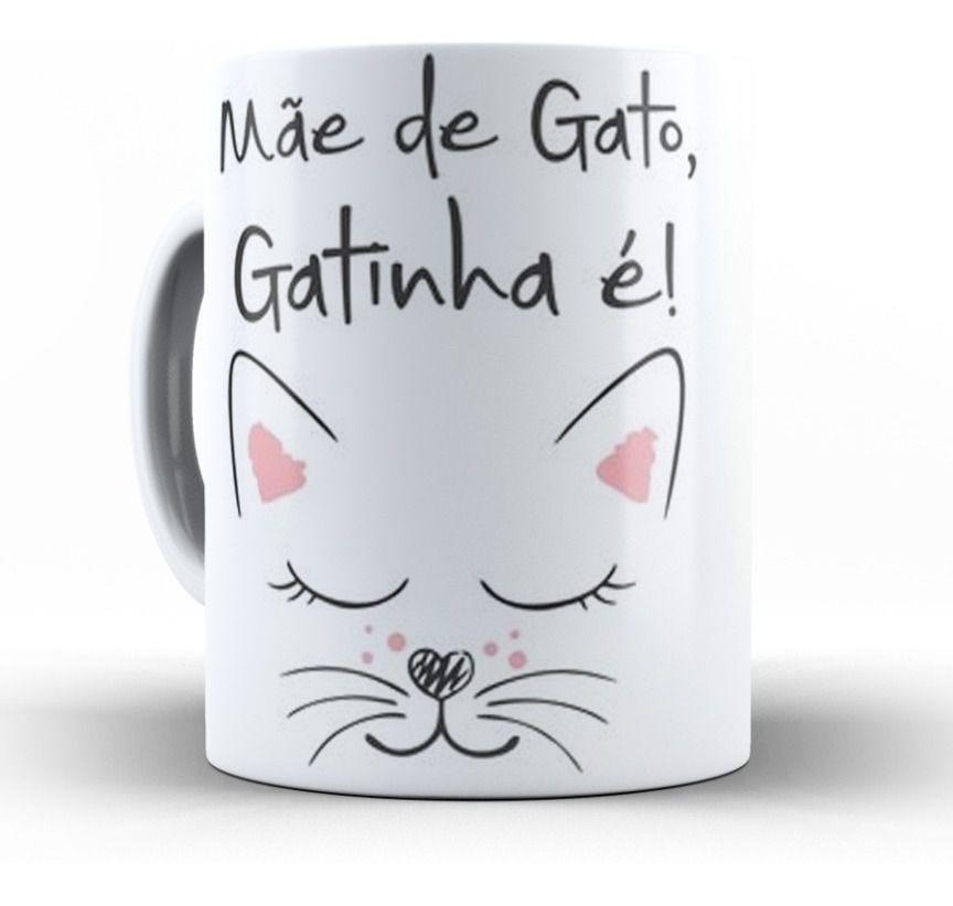Caneca de Porcelana Mãe de Gato