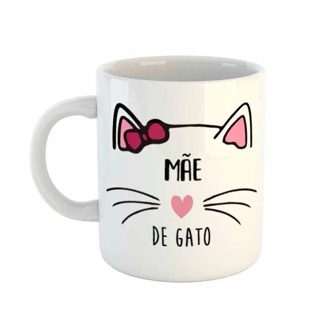 Caneca de Porcelana Mãe de Gato Gateza