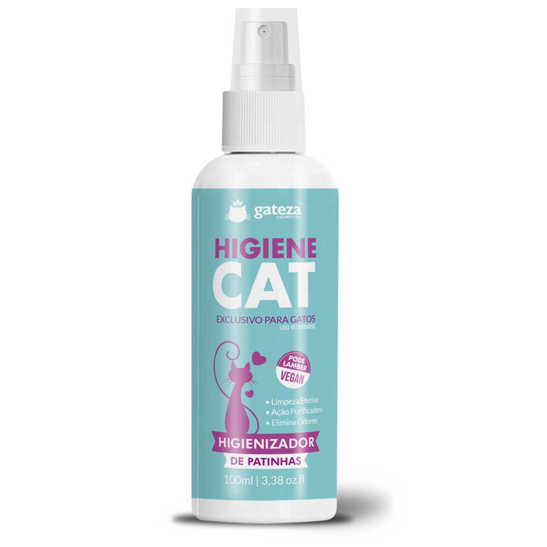 Combo 2 Banho A Seco de Gato 250ml + Higiene Cat Higienizador 100 ml Gateza Cosmétca