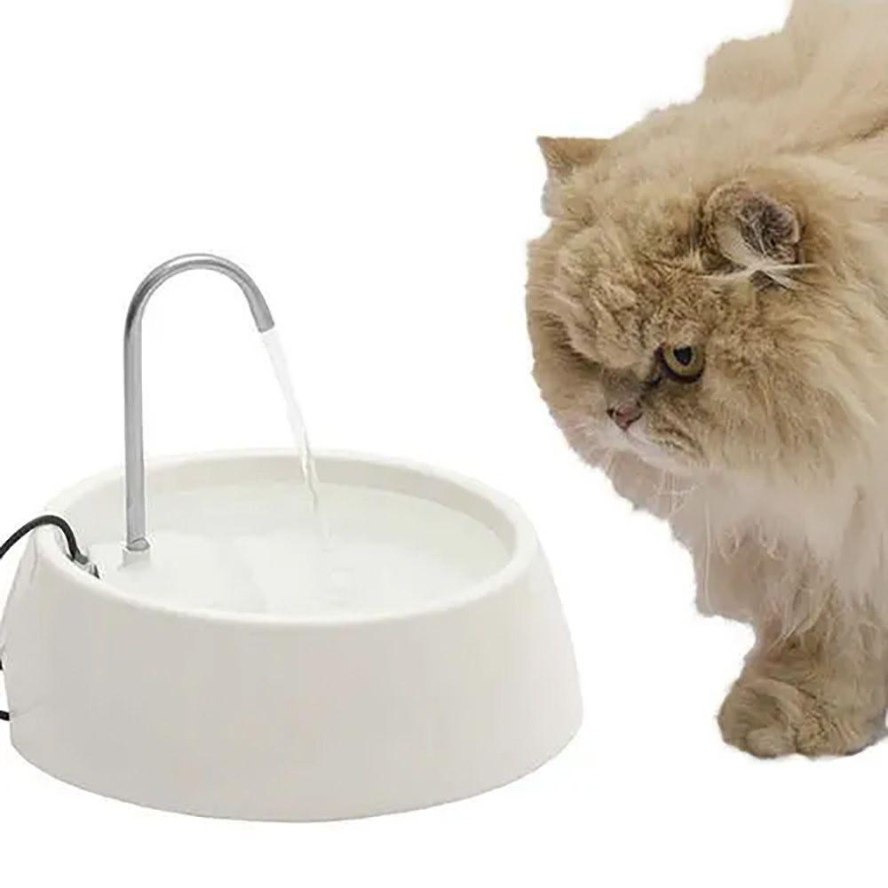 Fonte de Água e Bebedouro de Gato Aqua Mini Bivolt Branca