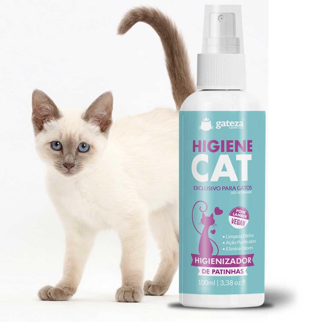 Kit Banho A Seco Creme Hidratante Cat Cream e Higienizador Para Gatos Gateza Cosmética