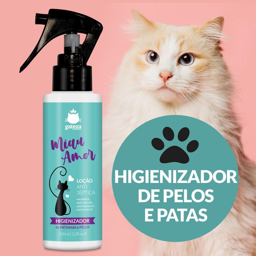 Kit Higienizador de Pelos para Gatos e Hidratante de Pelos Gateza Cosmética