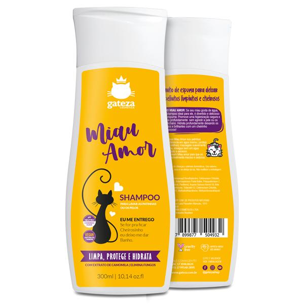 Shampoo para Gatos Miau Amor Gateza Cosmética 300ml