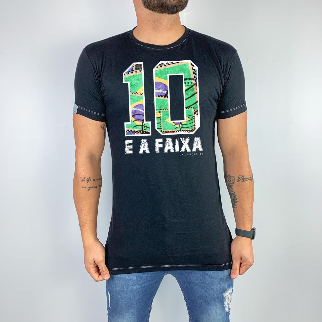 Camiseta 10 e a faixa
