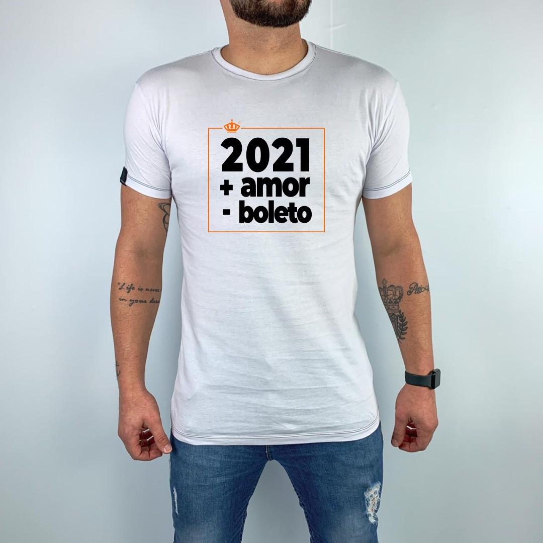 Camiseta 2021, + amor - boleto