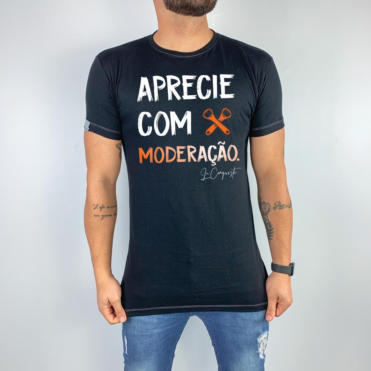 Camiseta Aprecie com moderação.