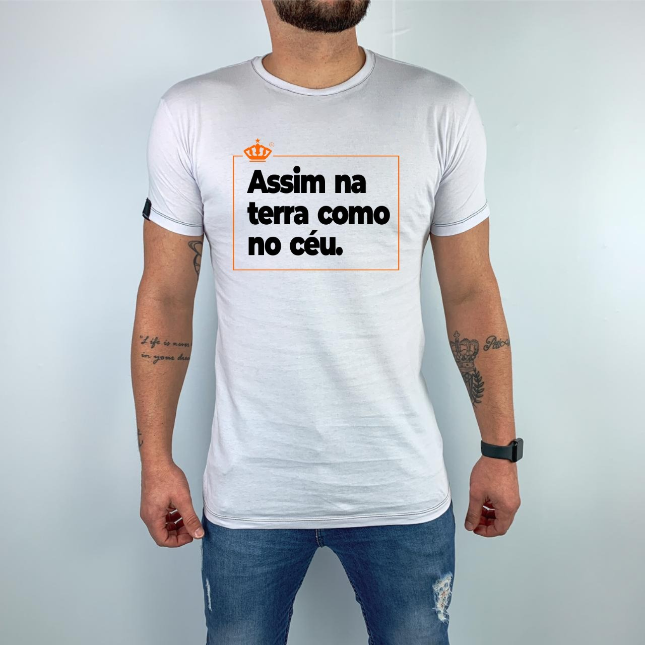 Camiseta Assim na terra como no céu