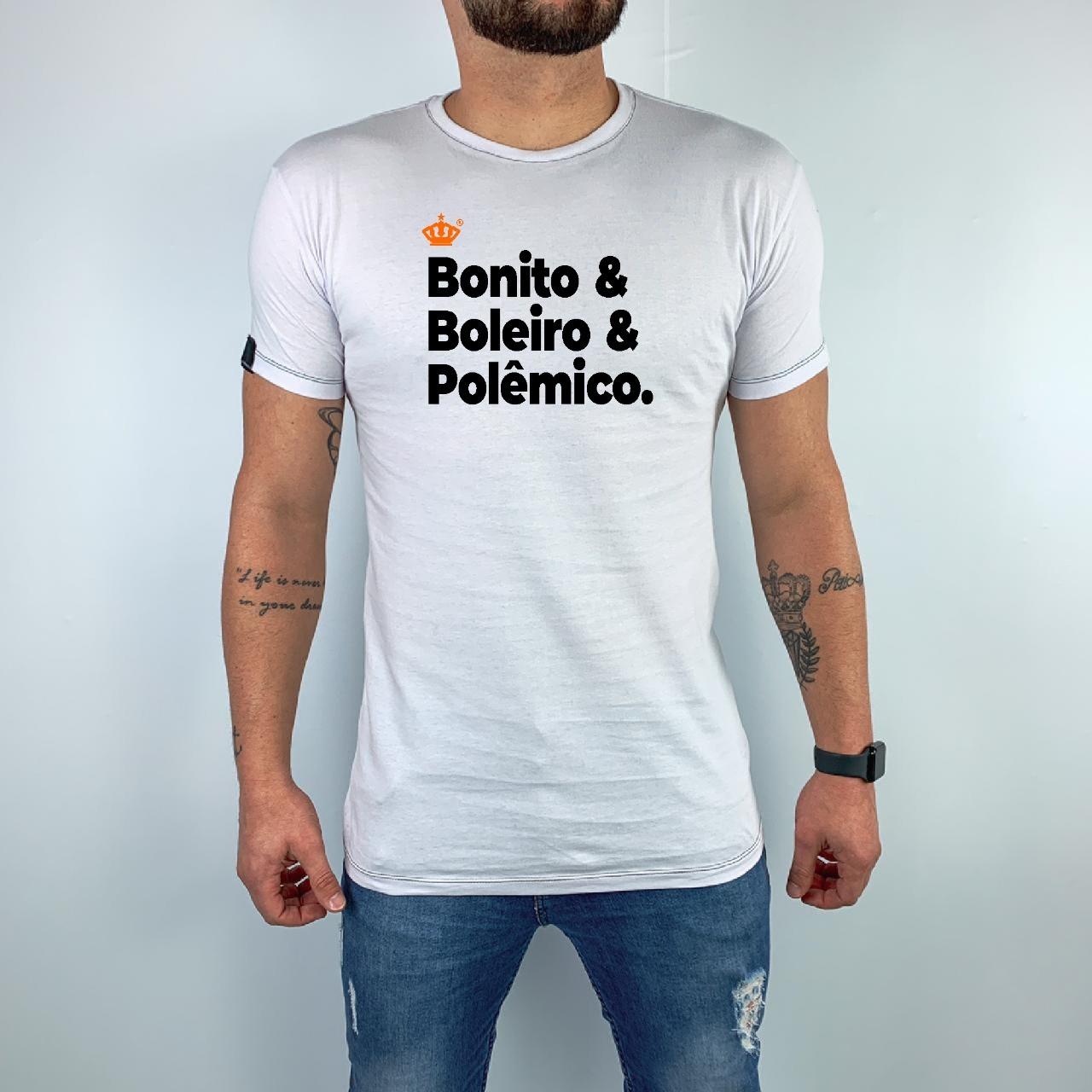 Camiseta Bonito & Boleiro & Polêmico