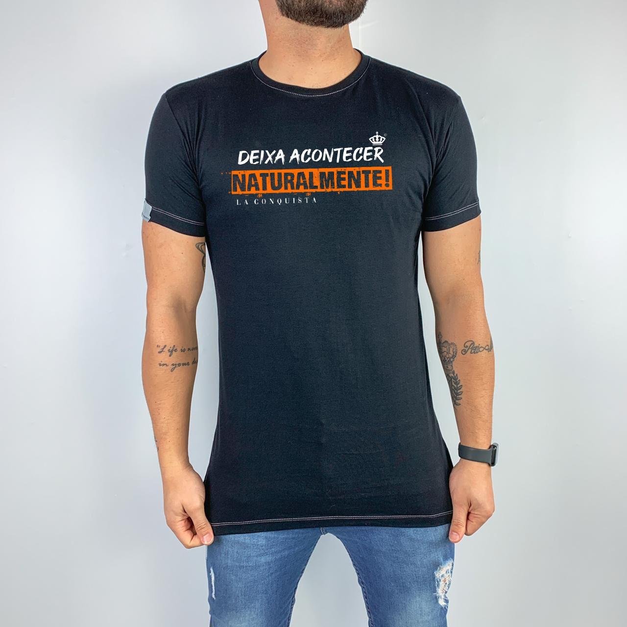 Camiseta Deixa acontecer naturalmente