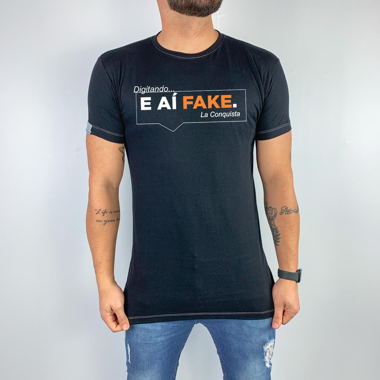 Camiseta E aí fake