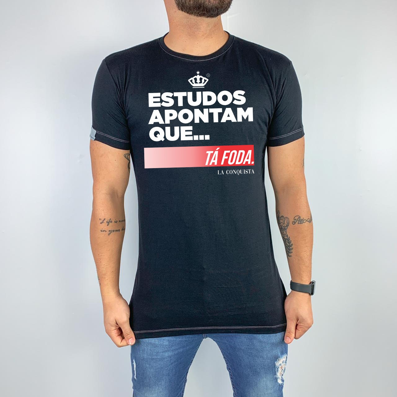 Camiseta Estudos apontam...