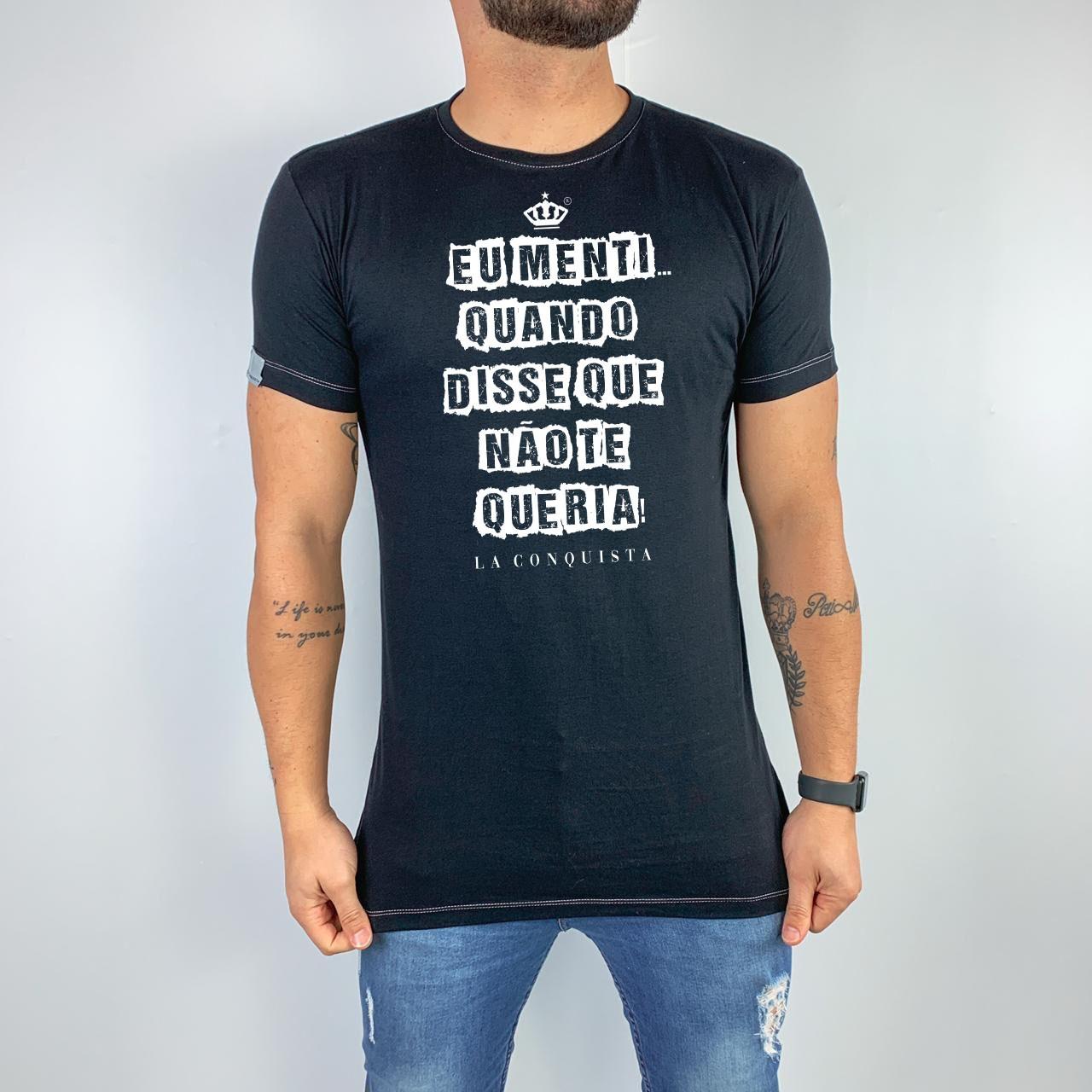 Camiseta Eu menti...