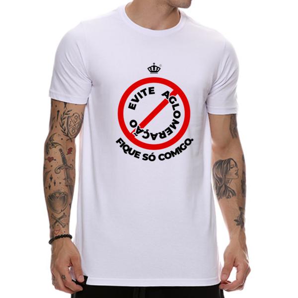 Camiseta Evite aglomeração