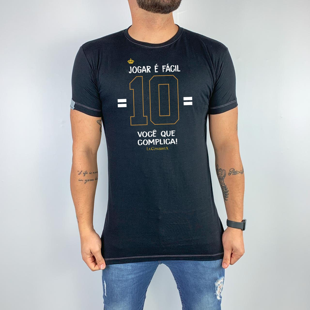 Camiseta Jogar é fácil, você que complica!
