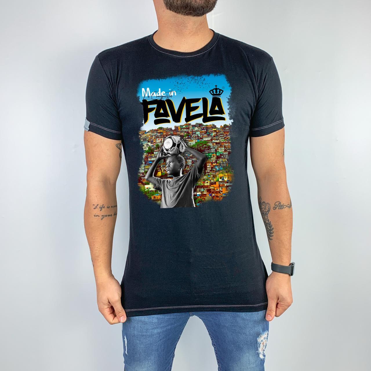 Camiseta Made in favela - Nego Ney