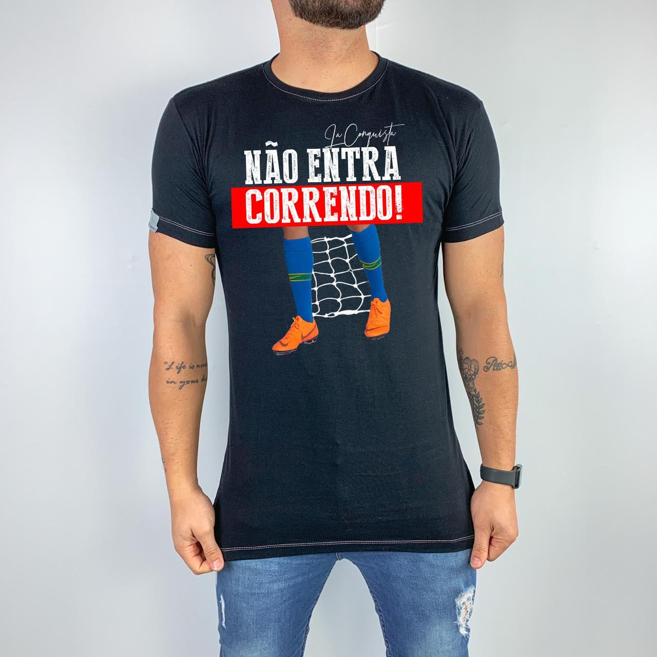 Camiseta Não entra correndo