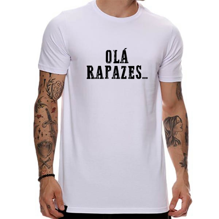 Camiseta Olá rapazes