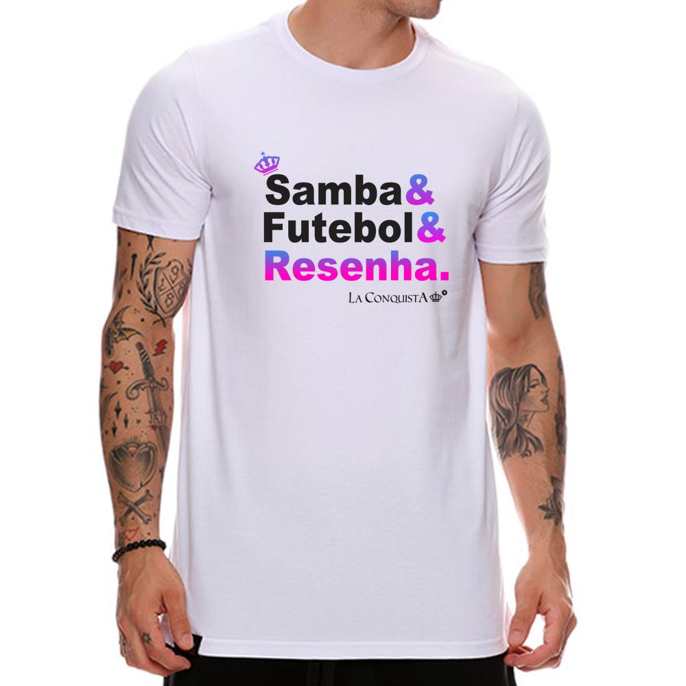 Camiseta Samba & futebol & resenha