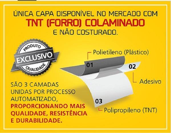 CAPA PARA CARRO  COM FORRO TOTAL  IMPERMEÁVEL - COM CADEADO - TAMANHOS: P - M - G - GG