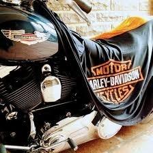 CAPA PARA COBRIR MOTO HARLEY DAVIDSON ROAD KING CLASSIC COM LOGO - TECIDO DRY (LYCRA) - PERMEAVEL - TAM. G+