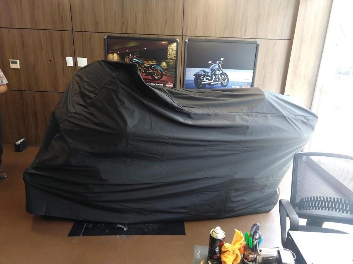 CAPA TERMICA PARA COBRIR MOTO HARLEY DAVIDSON COM LOGO - IMPERMEAVEL - TAM. GG / EXG