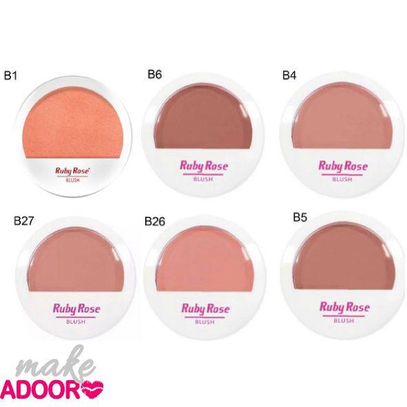 Blush Ruby Rose Cores B1, B6, B4, B27, B26 e B5