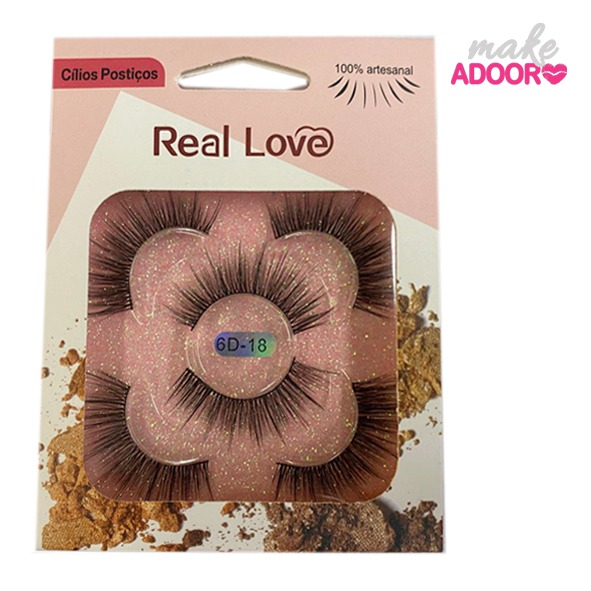 Cílios Postiço 6D-18 Real Love
